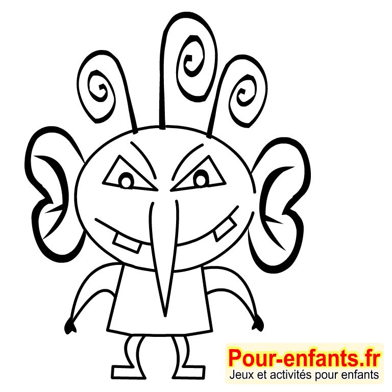 Dessins monstres dessin coloriage monstre halloween dessiner monstres - Monstres dessin ...