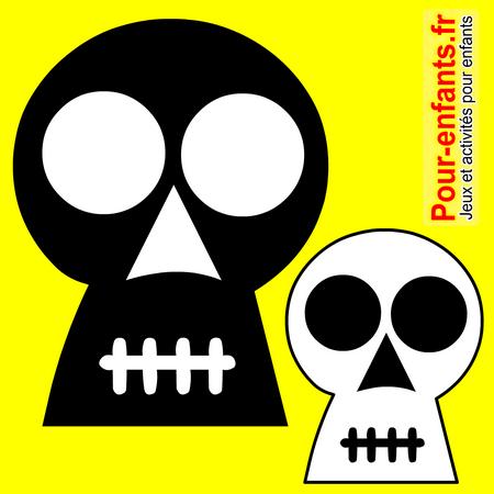 dessins t te de mort dessiner tete de mort halloween. Black Bedroom Furniture Sets. Home Design Ideas